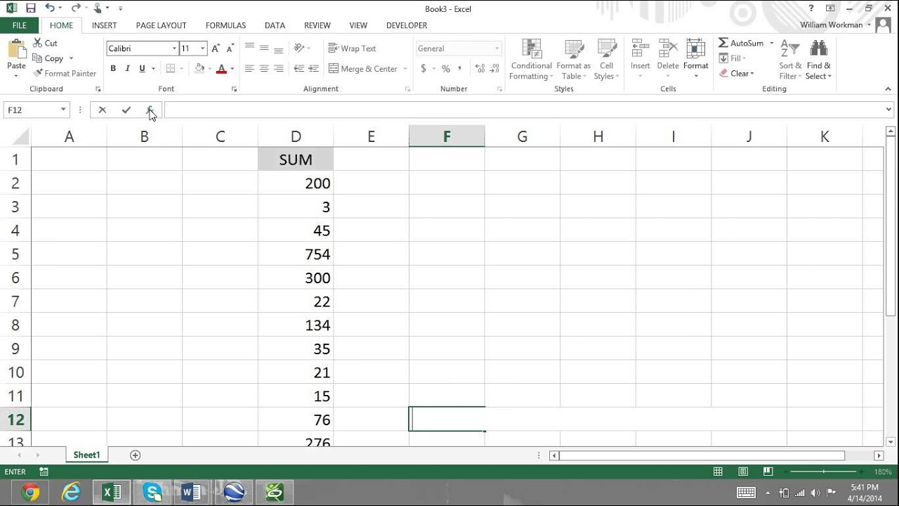 Excel For Noobs Part 56: Insert Function & Function Arguments ...