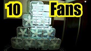 10 BOX FANS = LOUD FAN NOISE SOUND BLOCKER + SOUND MASKING