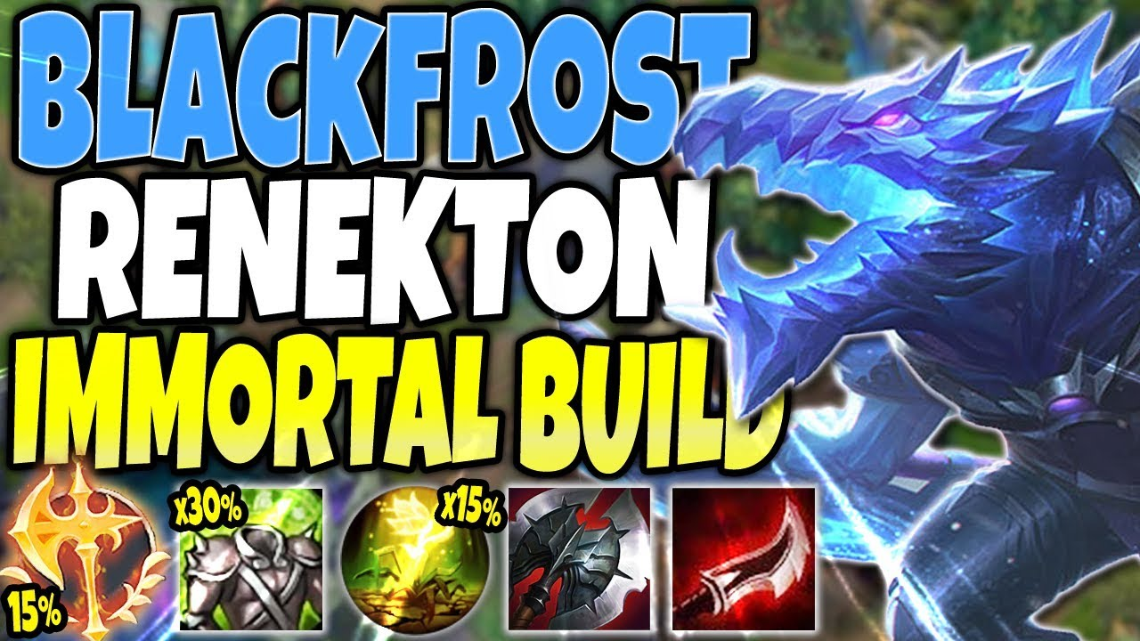 Blackfrost Renekton Skin Is Op Best Immortal Renekton Season 10 Build Lol Renekton S10 Gameplay Youtube