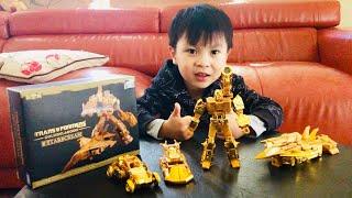 GOLDEN TRANSFORMERS SET   ゴールデントランスフォーマーコレクション   황금 변압기 세트   ĐỒ CHƠI TRANSFORMERS BẰNG VÀNG