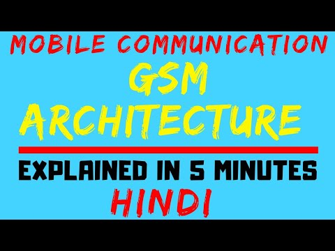 GSM Architecture (Mobile Communication / Computation) Easiest Explanation Ever In Hindi