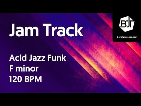 Acid Jazz Funk Jam Track in F minor - BJT #21