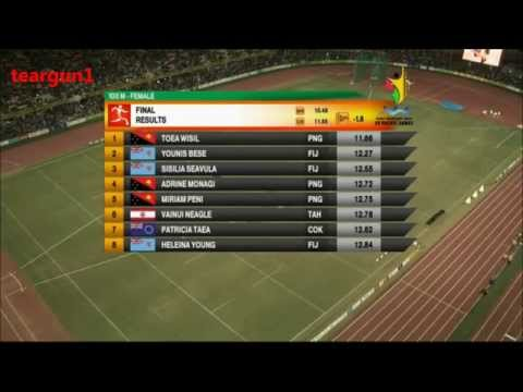 Women's 100 Meters Sprint Final 15th Pacific Games 2015