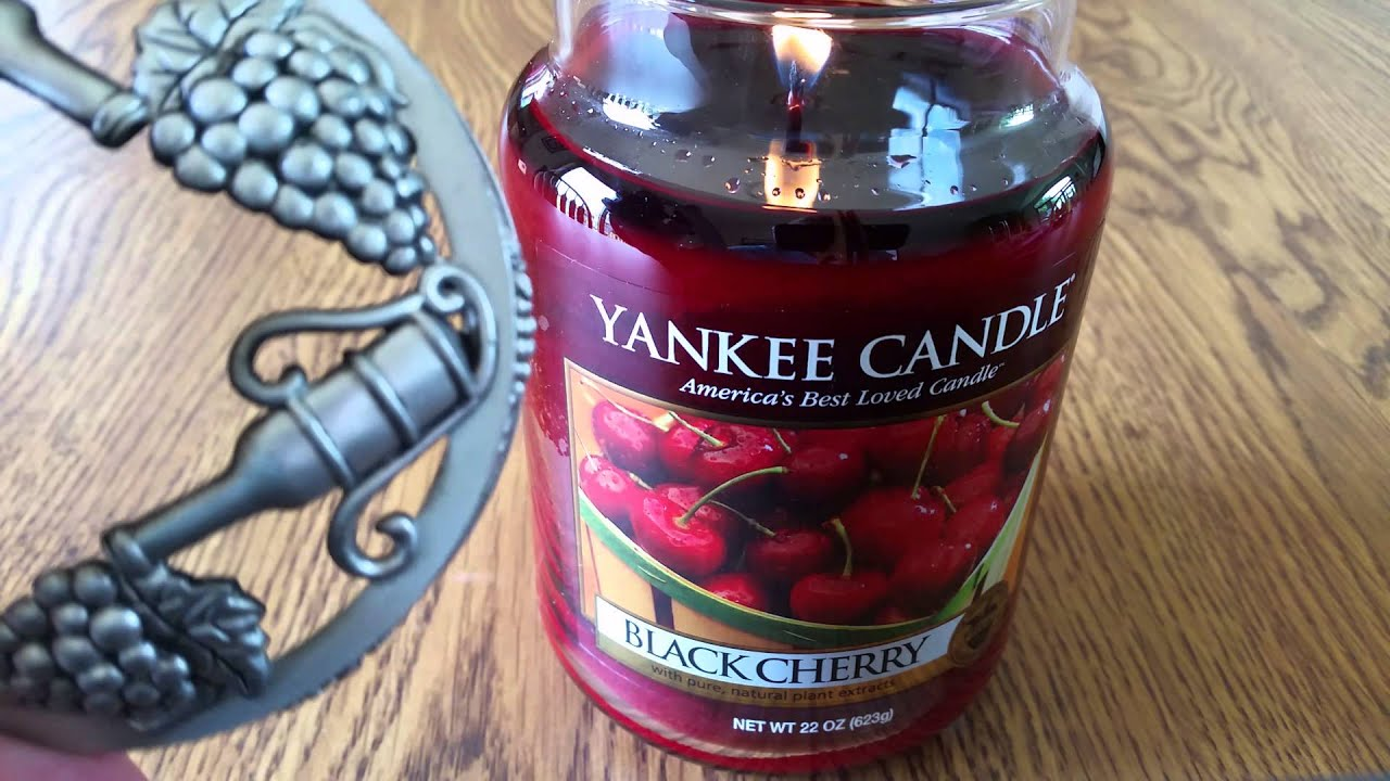 Yankee Candle Black Cherry Review - YouTube