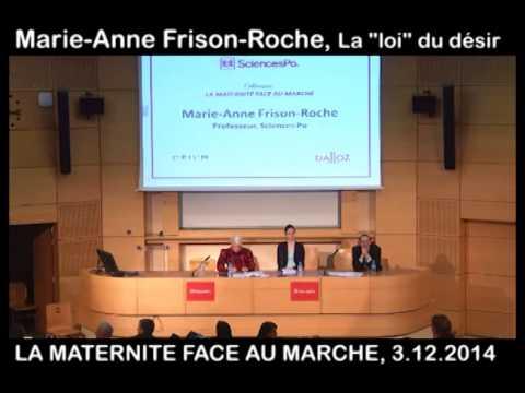 Frison Roche, M  A , la Loi du Désir, in La Maternité face au Marché, 3 12 214