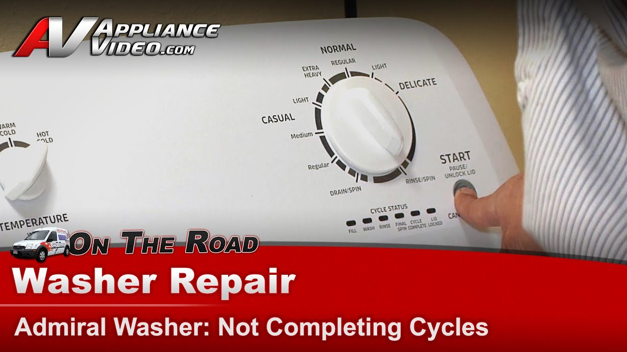 Admiral, Whirlpool, Maytag - Washer Repair - Not Completing Cycles -  ATW4675YQ0