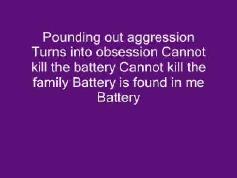 battery lyrics by metallica