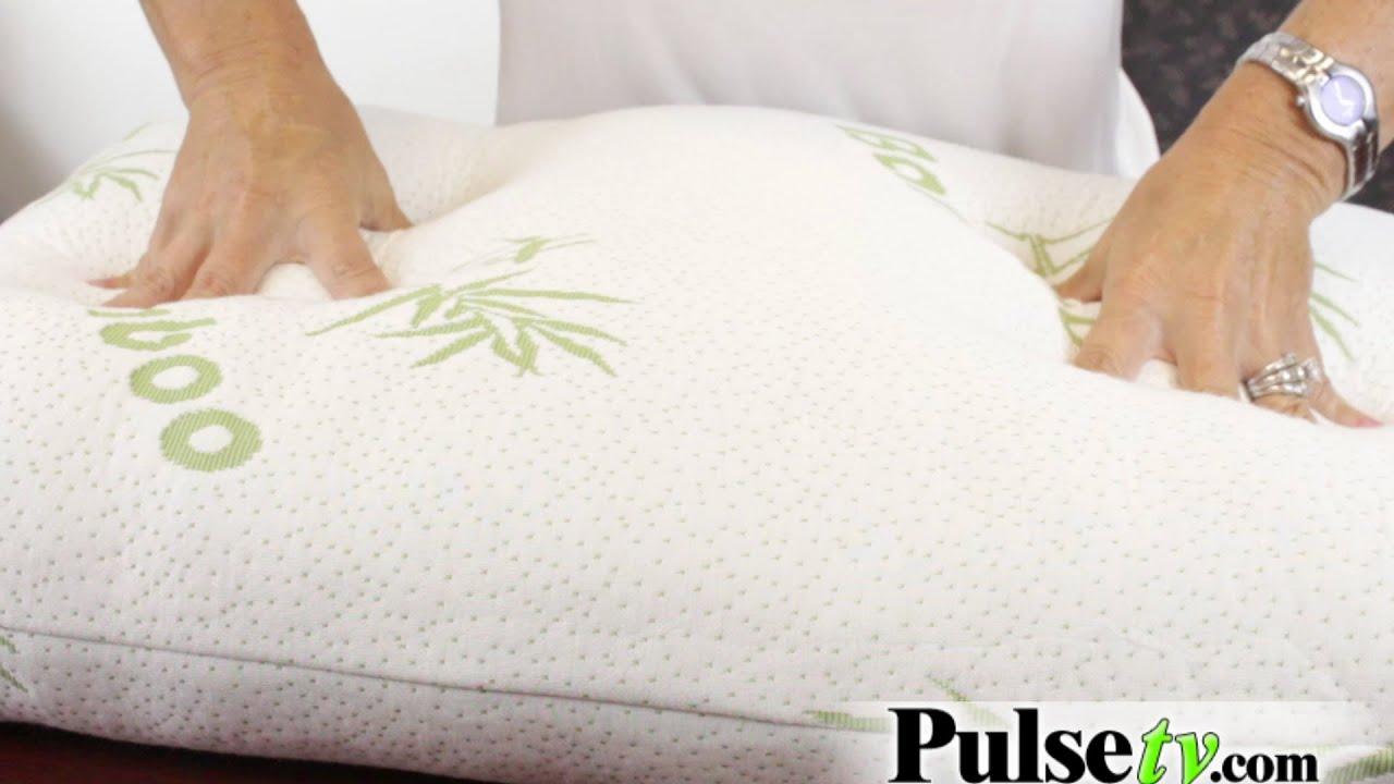 queen memory foam bamboo pillow