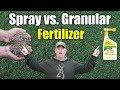 Spray vs. Granular Fertilizer - Which is Better on Lawns