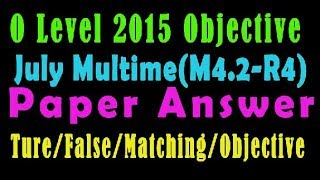 O Level Doeacc/Nielit O Level 2015 July(Multimedia M4.2) Solve  Paper In Hindi (Objection Type)