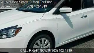 2016 Nissan Sentra 4DR SDN I4 CVT S for sale in Sebring, FL