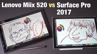 Artist Review: Lenovo Miix 520 vs Surface Pro 2017