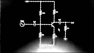 Animation of common emitter amplifier