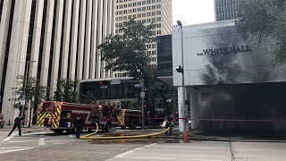 Explosion, fire reported in downtown Houston