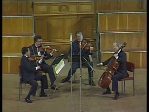 Borodin Quartet play Barber, Schubert, Debussy, Wolf, Gershwin, Shostakovich - video 1987