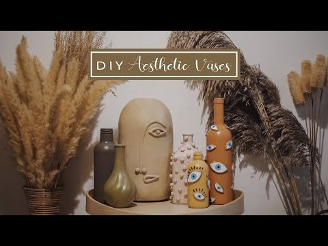 DIY Aesthetic vases | DIY  vas bunga aesthetic ala pinterest | DIY Indonesia - YouTube