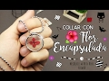 ¡APRENDE A ENCAPSULAR UNA FLOR! (a prueba de tontos) - Necklace with a REAL flower