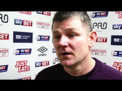 DERBY COUNTY U21s 1-0 ARSENAL U21s | Lee Glover Post Match