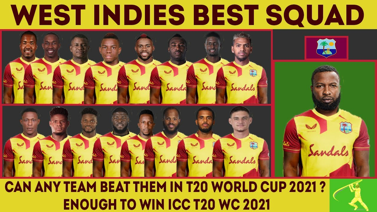 West Indies Vs South Africa 2021 West Indies Final T20 Squad Wi Vs Rsa 2021 T20 Squad Youtube