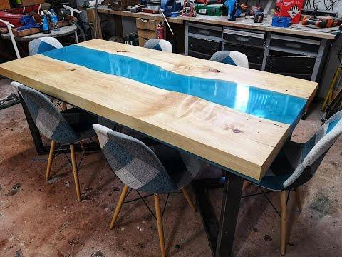 100 Kilos De Résine Fabrication Table Riviere Resine Epoxy Resin