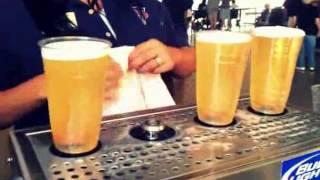 Bottoms Up Beer Dispenser at San Diego Padres Game