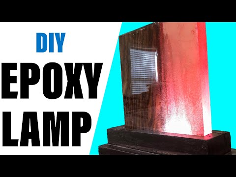 EASY Making Epoxy Resin Lamps  | How to make NIGHT LAMP with RESIN and WOOD