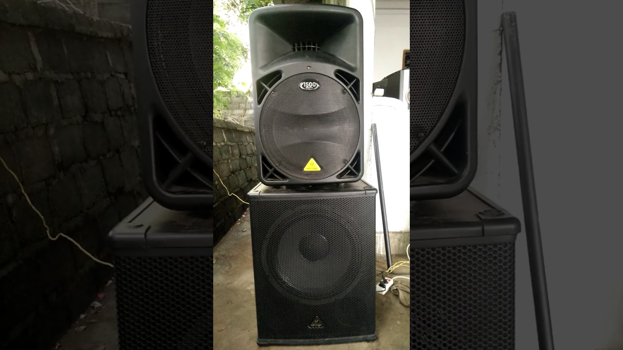 behringer b615d subwoofer b1800xp test youtube. Black Bedroom Furniture Sets. Home Design Ideas