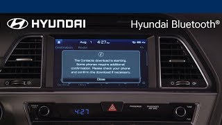 Pairing Your Phone to the Multimedia System | Hyundai Bluetooth