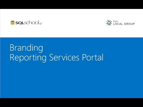 Branding Reporting Services Portal