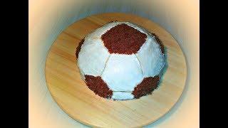 Как сделать Торт Футбольный мяч без мастики / How to make a soccer ball Cake without mastic