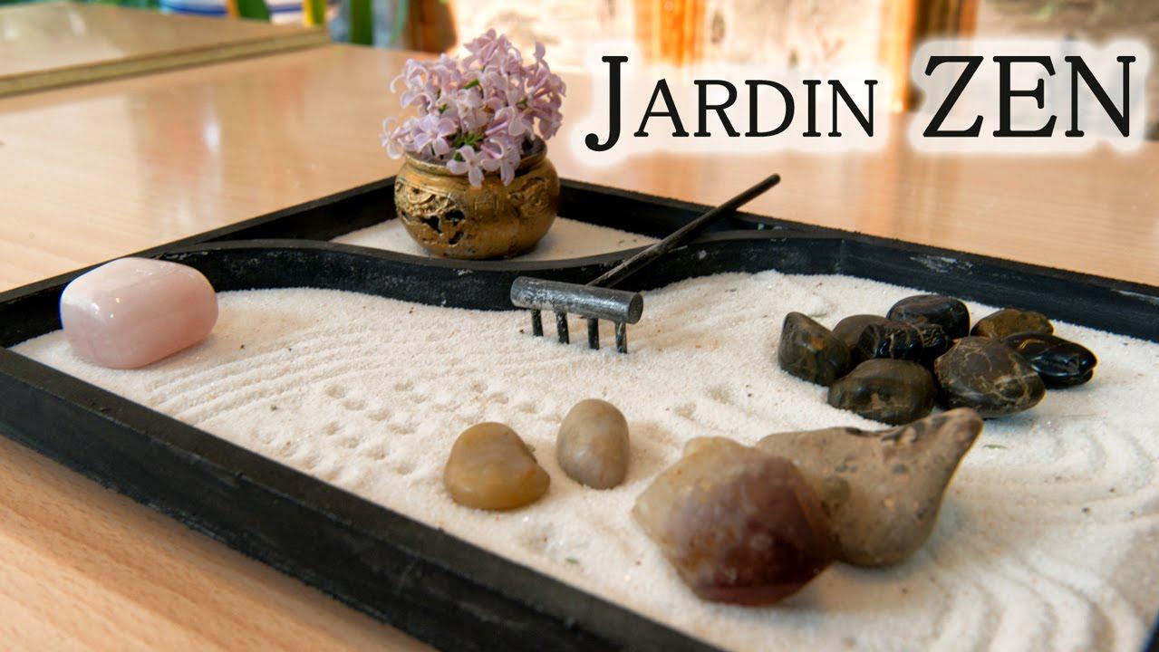 Jardin de mesa zen japones para relajacion y decoracion youtube - Arena para jardin zen ...