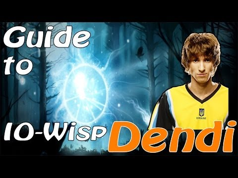 Dendi IO (Wisp) Playing RMM Dota 2 With Skype (NaVi) + commentary Dendi
