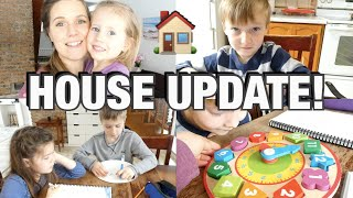 HOUSE UPDATE & HOMESCHOOL! | LAŔGE FAMILY DAY IN THE LIFE