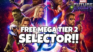 FREE MEGA TIER TWO SELECTOR ! BEST CHARACTERS TO CHOOSE? | Marvel Future Fight