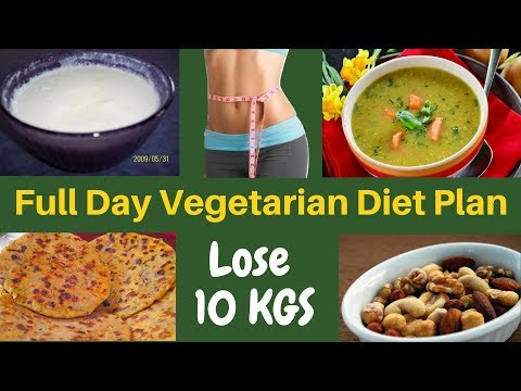 FAT LOSS VEGETARIAN Diet Plan for Women (Hindi)  | How to Lose Weight Fast 10kgs | Indian Meal Plan