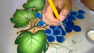Ensinando pintar uva azul com lia Ribeiro