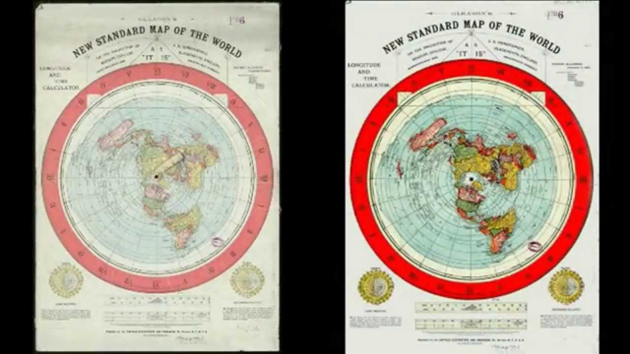 gleason u0026 39 s flat earth map restoration   download