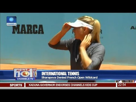 News@10: Sharapova Denied French Open Wildcard 16/05/17 Pt. 4