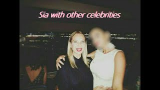 Sia with other celebrities   pictures and clips