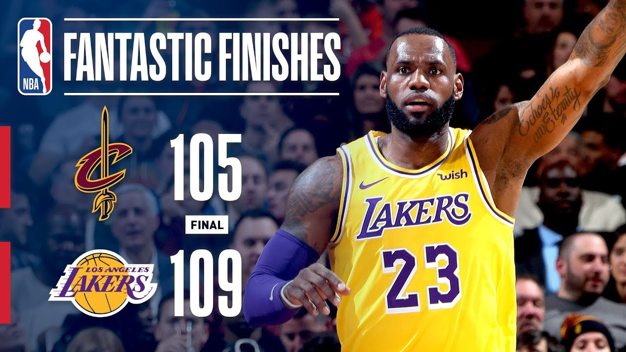 Lakers Vs Cleveland 2018 >> The Lakers Come Back In Cleveland For An Exciting Finish November 21 2018