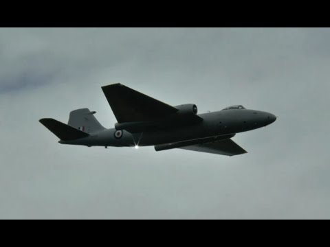 English Electric Canberra classic jet display - Waddington 2014