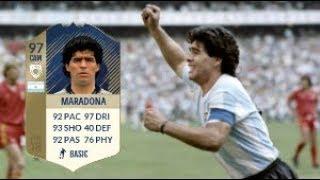 Video Fifa 18 Prime Icon Diego Maradona (97) Player Review download MP3, 3GP, MP4, WEBM, AVI, FLV April 2018