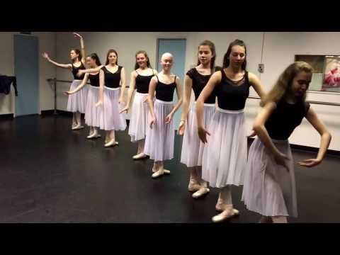 Advanced 1 Ballet dancing to 'How Far I'll Go' Moana