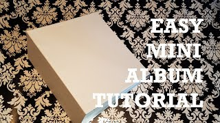 super easy mini album tutorial step by step