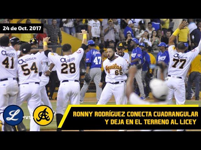 #TBT Águilas dejan en el terreno al Licey con cuadrangular de Ronny Rodríguez