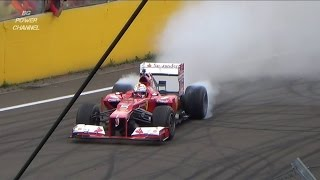 Sebastian Vettel HUNGARORING 2015 FERRARI RACING DAYS FULL SHOW BURNOUT V8
