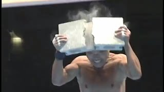 киокушинкай каратэ.  Тамэсивари.  Shihan 66 лет.