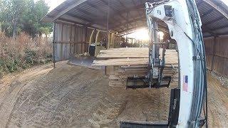 Gambar cover Pallet Forks on an Excavator! Bobcat Trackhoe
