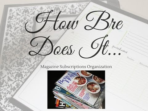 Managing My Magazine Subscriptions and Articles Ideas