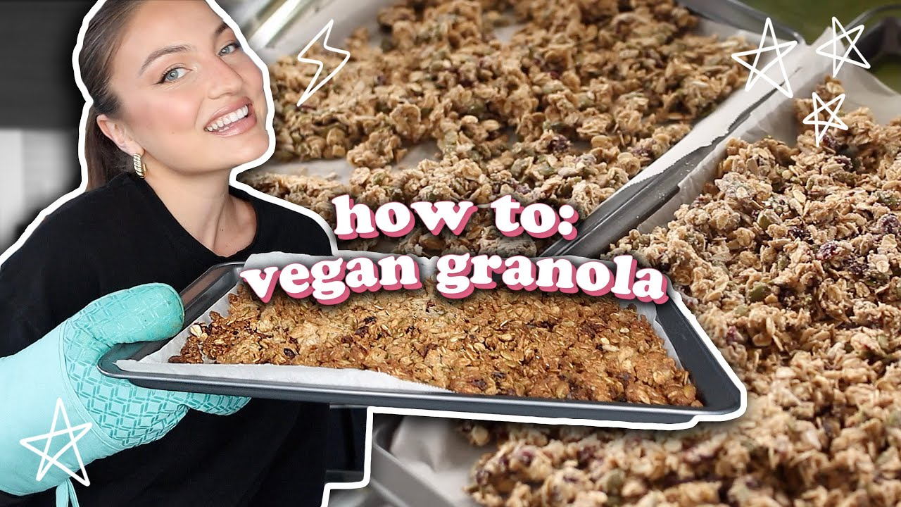 the best vegan granola recipe OF ALL TIME 👅